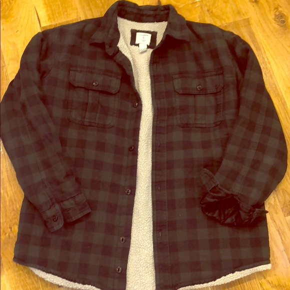 e89e34d1e Lands' End Shirts & Tops | Lands End Boys Sherpa Like Lined Flannel ...